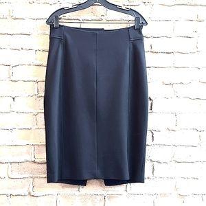 Elie Tahari Zip Back Slit Ponte Pencil Skirt